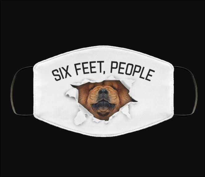 Growling Chow Chow six feet people face mask