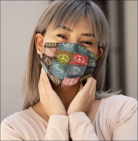Hippie logo face mask