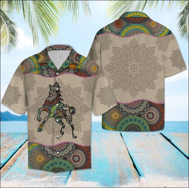 Horse Mandala hawaiian shirt