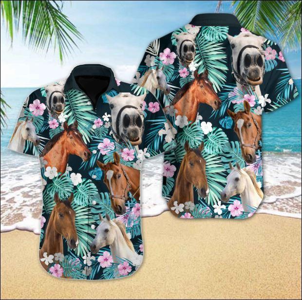 Horse Tropical hawaiian shirt