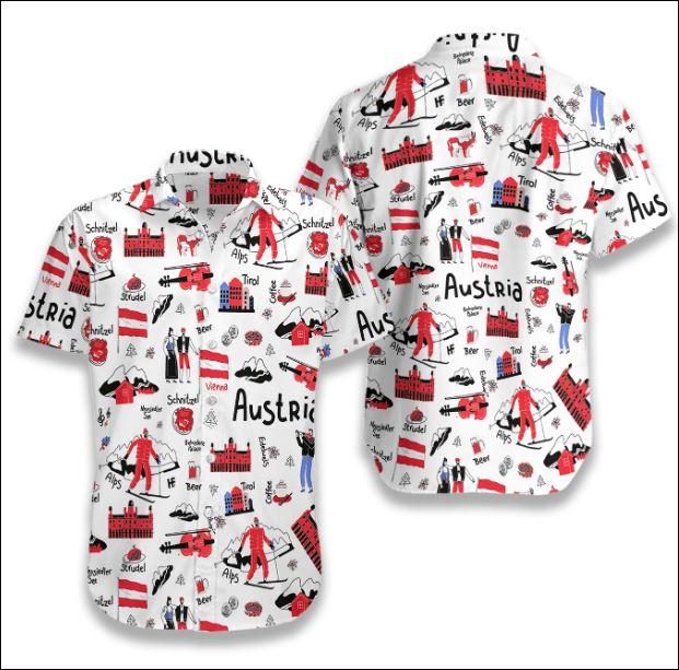 I Love Austria Doodle hawaiian shirt