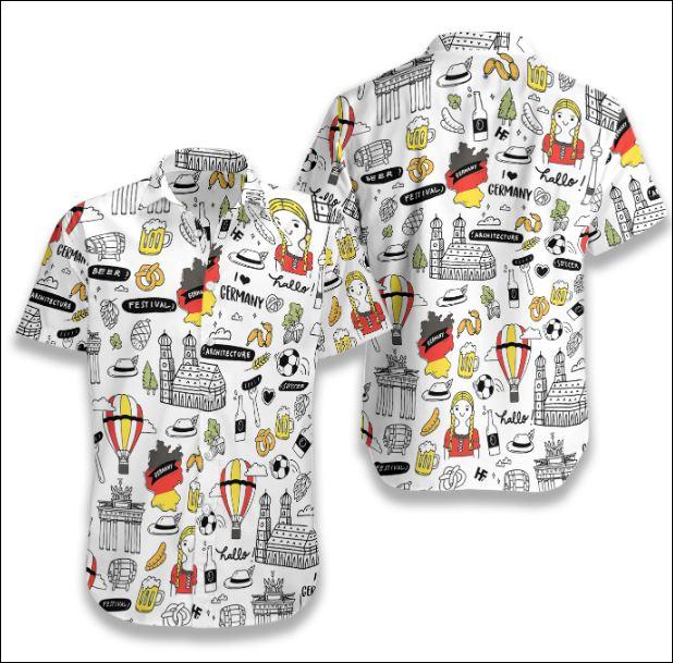 I Love Germany hawaiian shirt