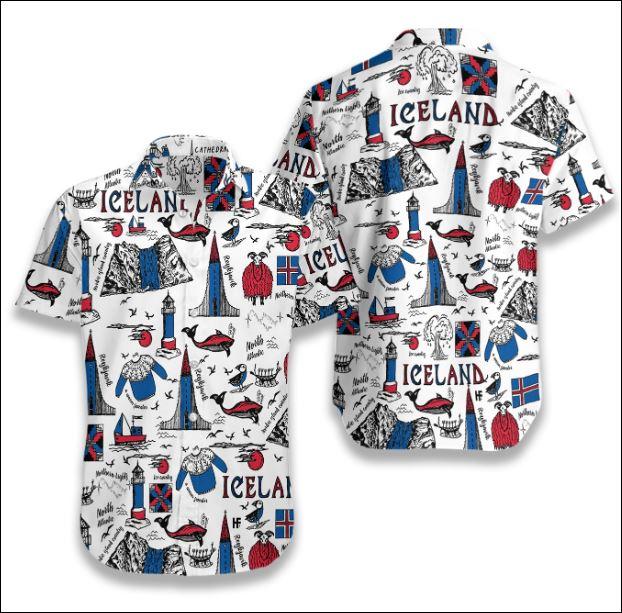 I Love Iceland Doodle hawaiian shirt