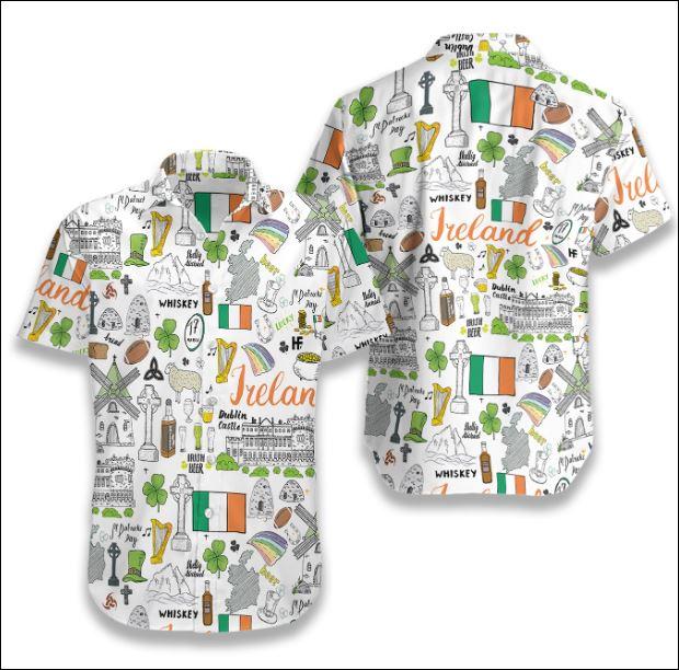I Love Ireland Doodle hawaiian shirt