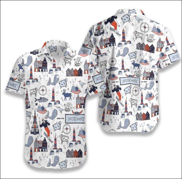 I Love Norway Doodle hawaiiaI Love Norway Doodle hawaiian shirtn shirt