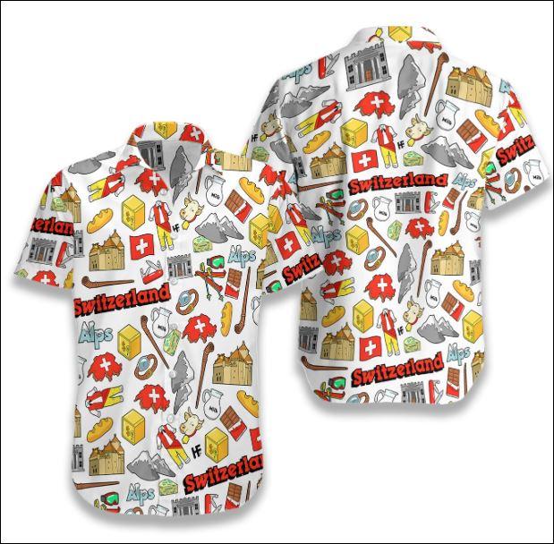 I Love Switzerland Doodle hawaiian shirt