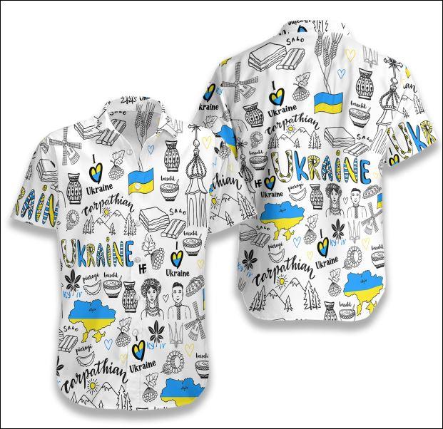 I Love Ukraine Doodle hawaiian shirt