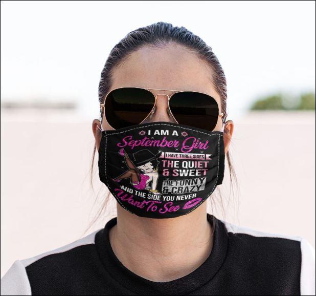 I am a september girl i have three side face mask