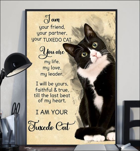 I am your friend your partner your tuxedo cat poster 2
