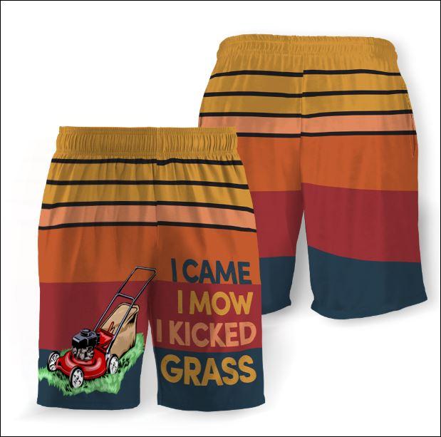 I came i mow i kicked grass beach short