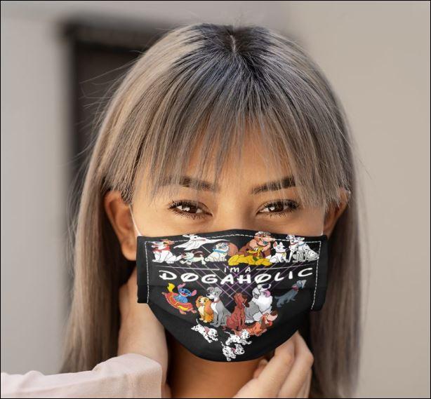 I'm a dogaholic face mask