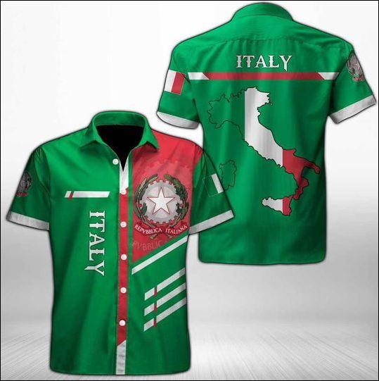 Italy map hawaiian shirt