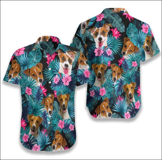 Jack Russell Terrier Tropical hawaiian shirt