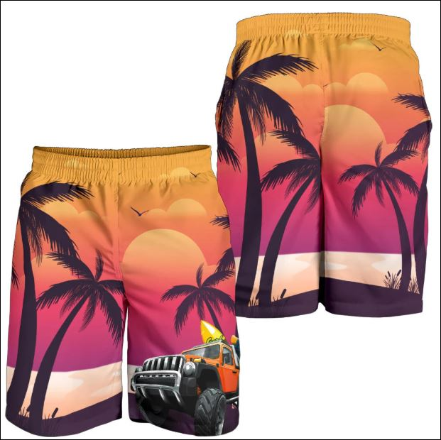 Jeep and sunset beach short