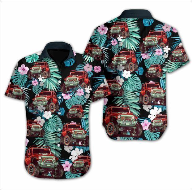 Jeep flower Hawaiian shirt
