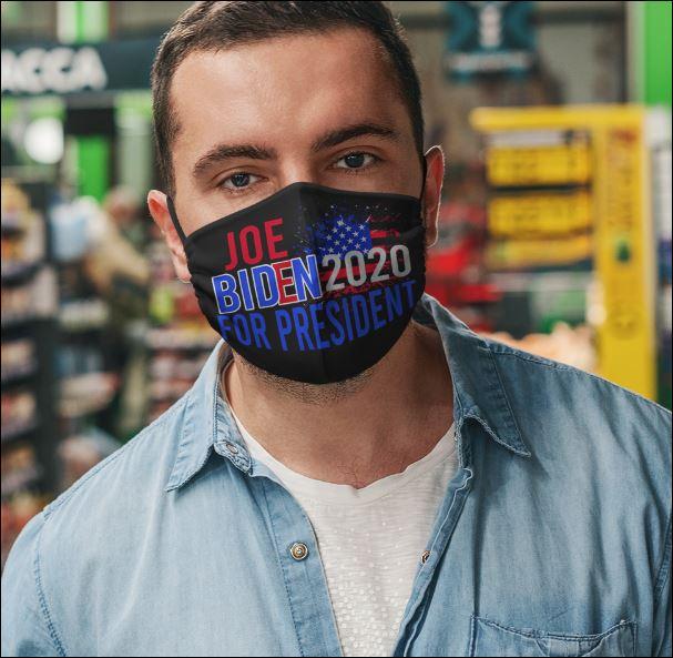 Joe Biden 2020 for president face mask