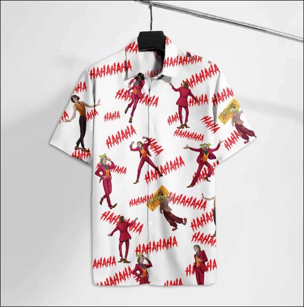 Joker laughing hahaha hawaiian shirt