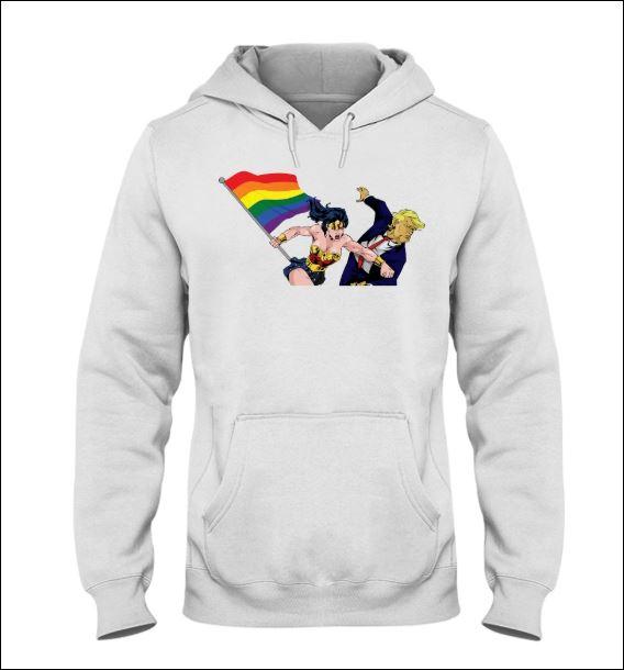 LGBT Wonder Woman punching Trump hoodie