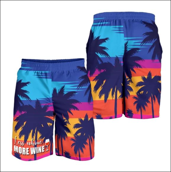 Less whine more wine beach short