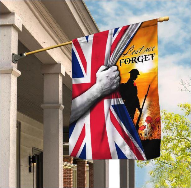 Lest we forget England flag