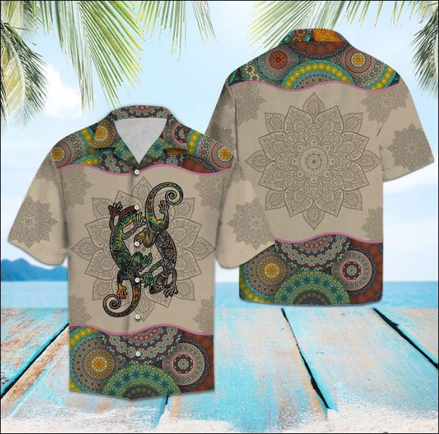 Lizards mandala hawaiian shirt