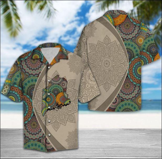 Maine Mandala hawaiian shirt