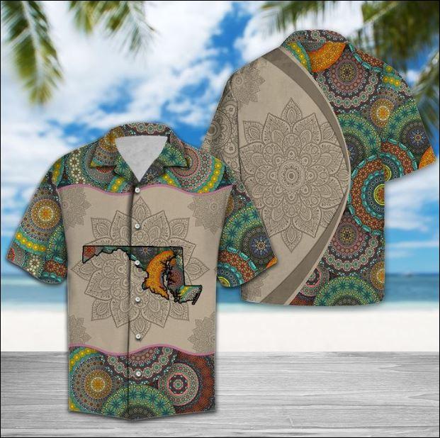 Maryland Mandala hawaiian shirt