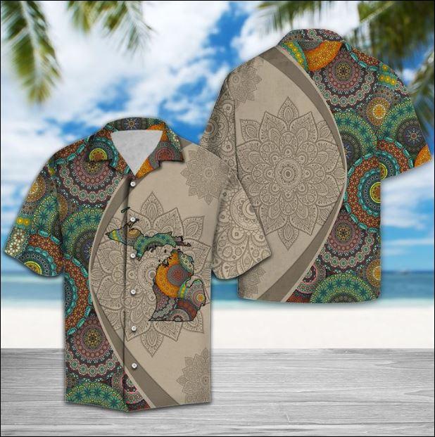 Michigan Mandala hawaiian shirt