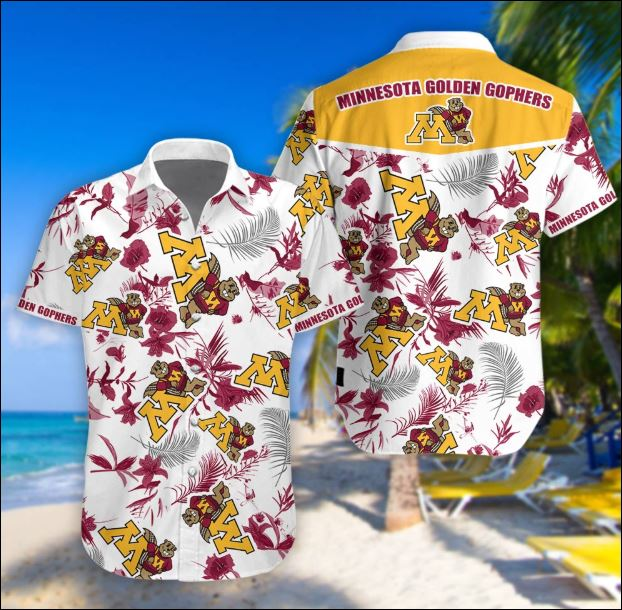Minnesota Golden Gophers tropical hawaiian shirt