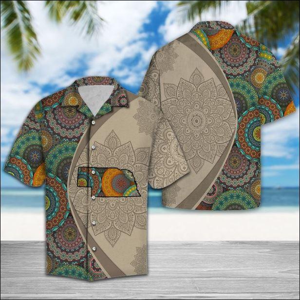 Nebraska Mandala hawaiian shirt