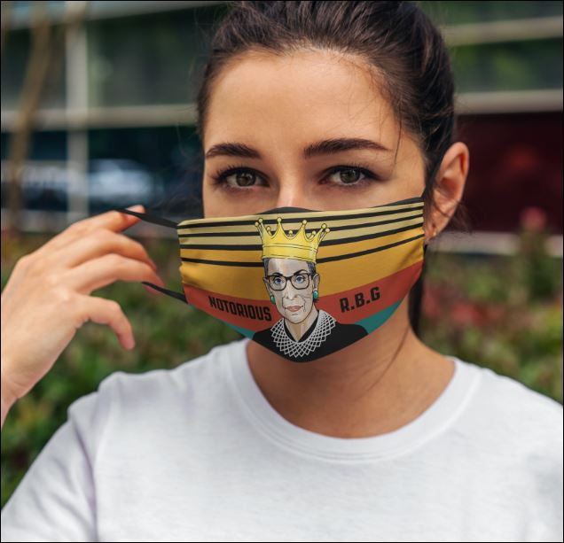 Notorious RBG vintage face mask