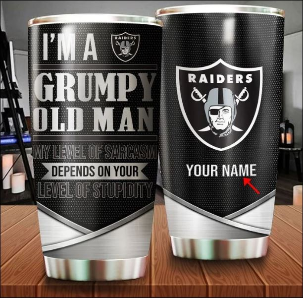 Oakland Raiders i'm a grumpy old man my level of sarcasm depends on your level of stupidity tumbler