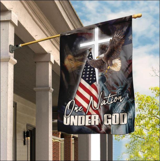 One nation under God American flag