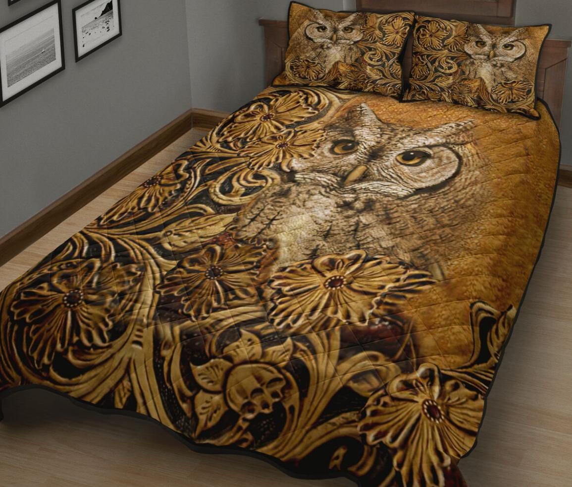 Owl vintage bedding set 1