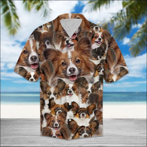 Papillon hawaiian shirt