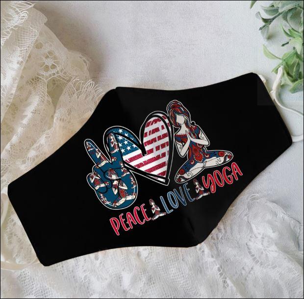 Peace love yoga face mask