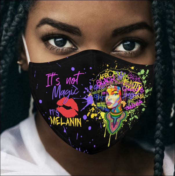 Personalized Black queen it's not magic it's me face mask
