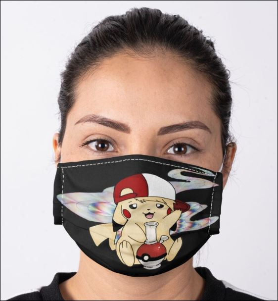 Pikachu smoke weed face mask