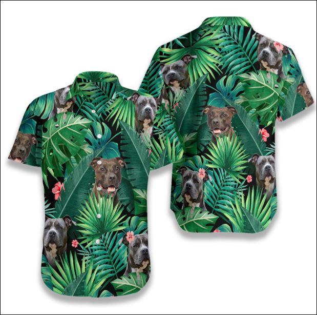 Pitbull Tropical hawaiian shirt
