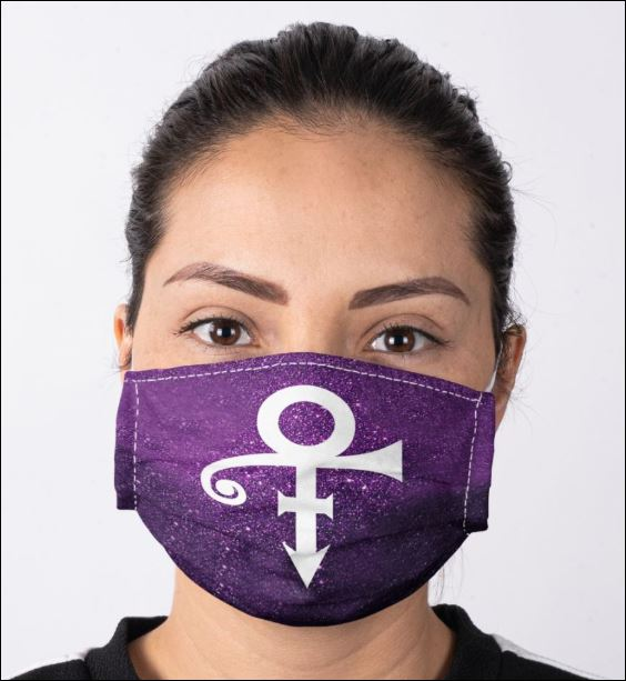 Prince logo glitter face mask