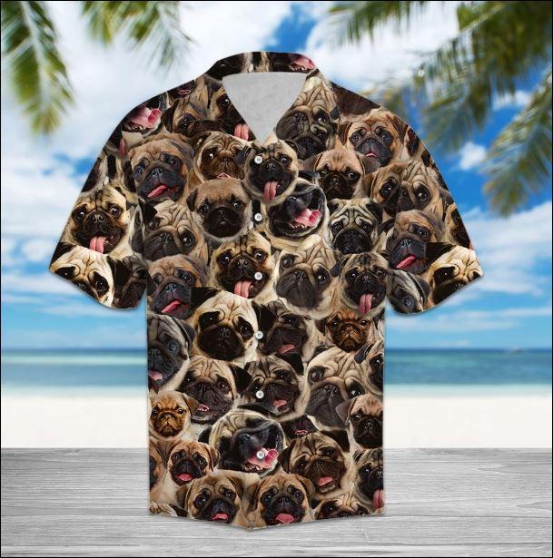 Pug hawaiian shirt
