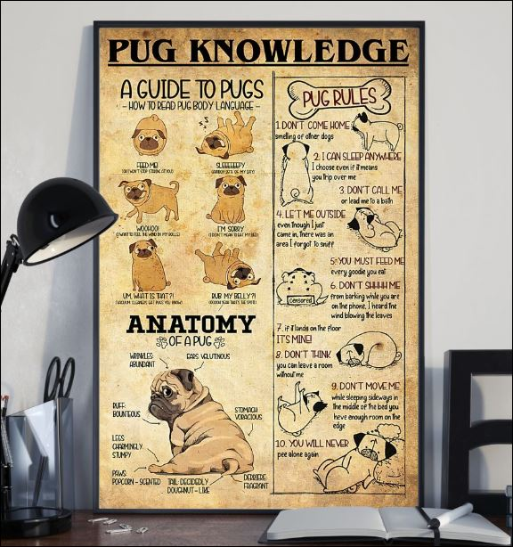 Pug knowledge poster 2