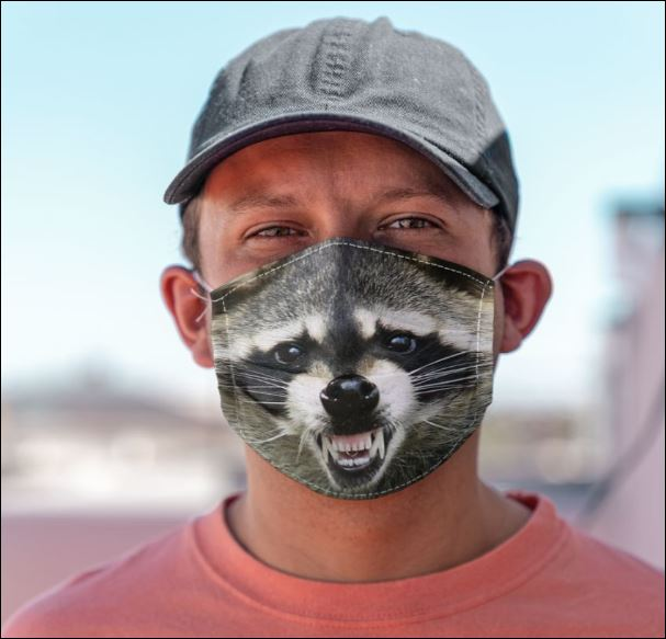 Racoon mouth face mask