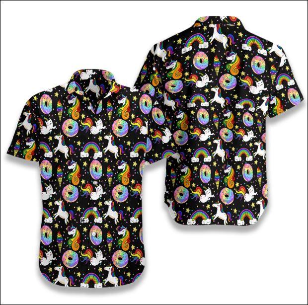 Rainbow unicorn hawaiian shirt
