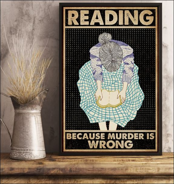 Reading because murder is wrong poster 1