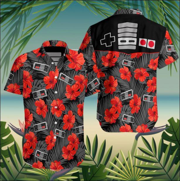 Retro gamepad hawaiian shirt