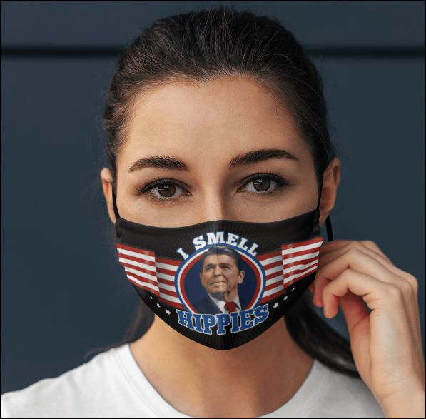 Ronald Reagan i smell hippies face mask
