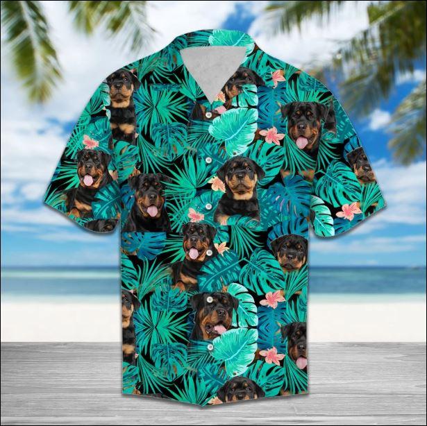 Rottweiler Tropical hawaiian shirt