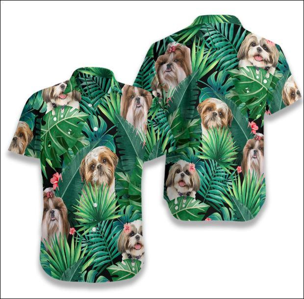 Shih Tzu Tropical hawaiian shirt