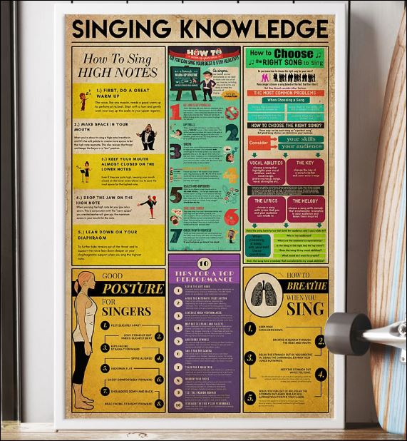 Singing knowledge poster 1